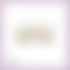 Découpe scrapbooking oeufs de pâques, lapins, chocolat, noeuds vert et rose embellissement die cut découpe papier scrap (ref.2673)