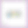 Découpe scrapbooking oeufs de pâques, lapins, chocolat, noeuds jaune et bleu embellissement die cut découpe papier scrap (ref.2674)