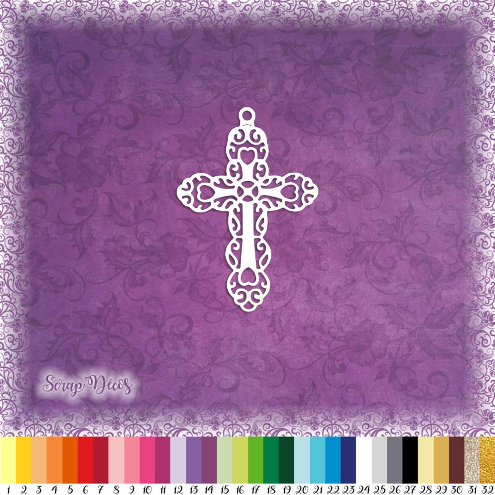 Découpe scrapbooking Croix, Pâques, fête, religion, printemps, signe embellissement die cut découpe papier scrap (Ref.2701)