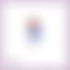 Découpe scrapbooking fille enfant robe ruban fleur danse princesse en couleurs embellissement die cut découpe papier scrap (ref.2754)