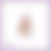 Découpe scrapbooking mannequin vintage couture robe ruban tissus fleurs en couleurs embellissement die découpe papier scrap (ref.2810)