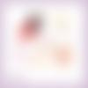 Découpes scrapbooking friandises noël hiver fête chocolat pain d'épices en couleurs embellissement die découpe papier scrap (ref.2959)