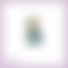 Découpe scrapbooking jasmine lampe magique génie aladdin désert orient princesse en couleurs embellissement carte papier scrap (ref.2576)