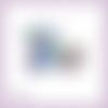 Découpe scrapbooking accessoires femme parfum sac fleur maquillage chaussures en couleurs embellissement carte papier scrap (ref.2849)