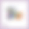 Découpe scrapbooking accessoires femme parfum sac fleur maquillage chaussures en couleurs embellissement carte papier scrap (ref.2846)