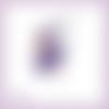 Découpe scrapbooking fée violette magie elfe conte féerie étoile princesse en couleurs embellissement die cut découpe papier (ref.3201)