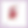 Découpe scrapbooking fée rouge magie elfe conte féerie étoile princesse en couleurs embellissement die cut découpe papier (ref.3196)