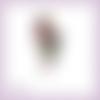 Découpe scrapbooking femme vahiné tahitienne vacances voyage fleurs tropiques île en couleurs embellissement die carte papier (ref.3389)