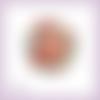 Découpe scrapbooking couronne bonhommes pain d'épice noël en couleurs - ref.3148