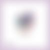 Découpe scrapbooking etiquette cadeaux noël bougies houx en couleurs (ref.3534)