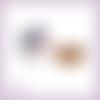 Découpes scrapbooking etiquette cadeaux noël panier houx bougies en couleurs (ref.3536)