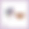 Découpes scrapbooking etiquette cadeaux noël panier arrondi houx bougies en couleurs (ref.3538)