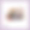 Découpe scrapbooking chat cadeaux noël nounours en couleurs (ref.3413)