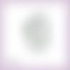 Découpe scrapbooking etiquette fleurs pervenches en couleurs (ref.3354)