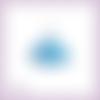 Découpe scrapbooking robe princesse bleue danseuse tutu en couleurs - ref.4481