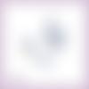 Découpes scrapbooking sac à main chaussure roses bleues fleur femme en couleurs - ref.4509