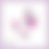 Découpes scrapbooking sac à main chaussure roses rose foncé fleur femme en couleurs - ref.4510