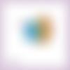 Découpe scrapbooking hérisson cadeau étiquette animal anniversaire en couleurs - ref.4522
