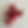 Perles lot de 6 - tête de mort howlite rouge
