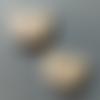 Boutons en bois - tête de chat - lot de 2 boutons