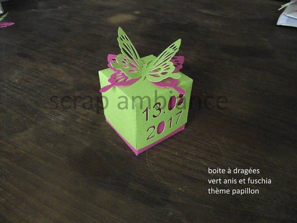 boite à dragées ,contenant à dragée ,personnalisable