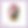 Découpe scrapbooking petite fille, fenêtre, rideaux en couleurs embellissement die cut (ref.2022)
