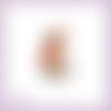 Découpe scrapbooking fée assise, fleur, fraise, princesse, magie, fille en couleurs - ref.2437