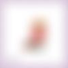 Découpe scrapbooking fée, fraise, souris, princesse, magie, fille en couleurs - ref.2438