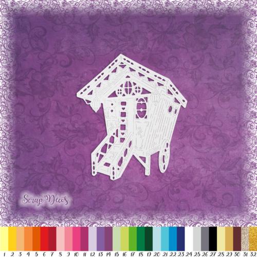Découpe scrapbooking roulotte, vacances, voyage, cheval, camping, espagne embellissement die cut 32 couleurs disponibles (ref.2362)