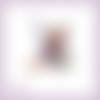 Découpe scrapbooking fée, fleur, elfe, princesse, robe violette, magie, fille, en couleurs embellissement die cut (ref.2527)