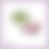 Découpe scrapbooking branche fushia, fleur, plante, jardin, nature, été en couleurs embellissement die cut (ref.2402)