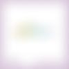 Découpe scrapbooking mot pâques oeuf lapin papillon printemps fête en couleurs embellissement die cut découpe papier scrap (ref.2700)