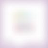 2 découpes scrapbooking mot pâques, lapins, oeufs, animaux, fête, printemps en couleurs embellissement die cut découpe papier (ref.l344)