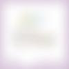 4 découpes scrapbooking mot pâques, lapins, oeufs, animaux, fête, printemps en couleurs embellissement die cut découpe papier (ref.l356)