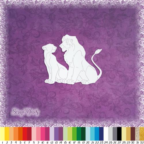 Découpe scrapbooking simba et nala adultes le roi lion savane amour - ref.1414