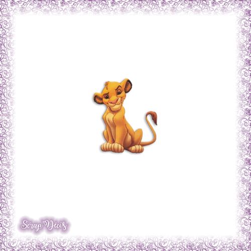 Découpe scrapbooking simba enfant le roi lion savane en couleurs - ref.1424