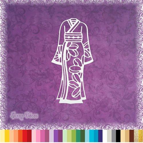 """Découpe scrapbooking """"kimono de geisha"""" embellissement die cut 32 couleurs disponibles (ref.0580)"""