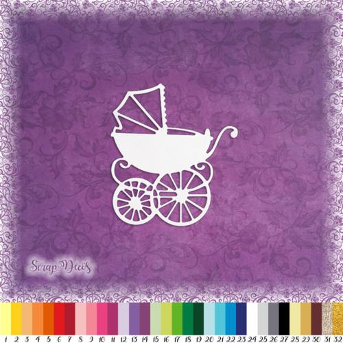 Découpe scrapbooking landau bébé naissance - ref.0124