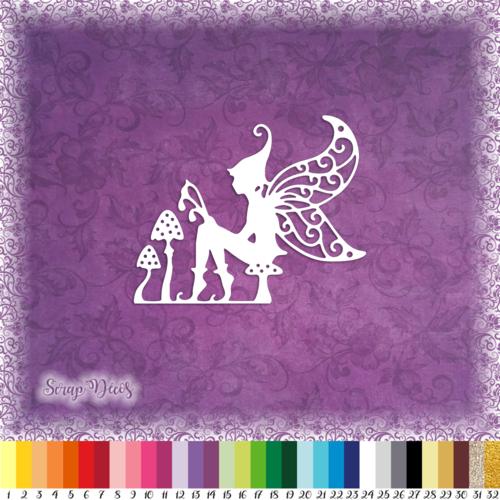 Découpe scrapbooking lutin champignon magie elfe conte de fées féerie embellissement die cut découpe papier scrap (ref.2804)