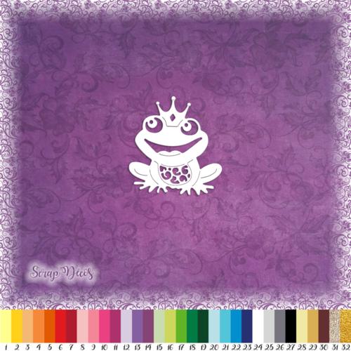 Découpe scrapbooking grenouille couronne prince magie conte de fées princesse - ref.0497
