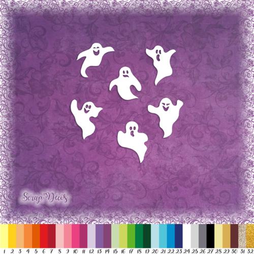 Découpes scrapbooking fantômes halloween citrouille chat toile d'araignée sorcière embellissement découpe papier scrap (ref.3100)