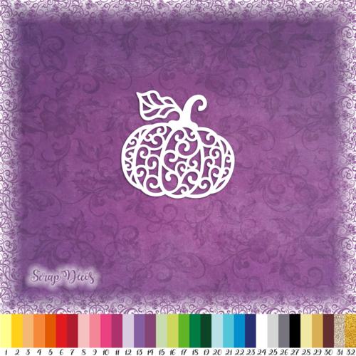 Découpe scrapbooking citrouille halloween fruit automne potiron embellissement découpe die cut papier scrap (ref.3101)