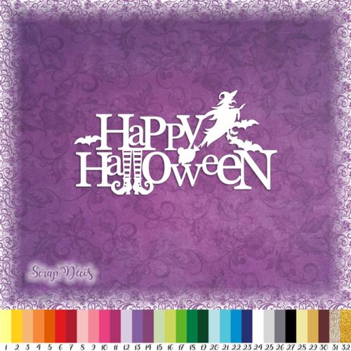 Découpe scrapbooking happy halloween sorcière chaussettes chat balai chauve souris embellissement découpe die papier scrap (ref.3099)
