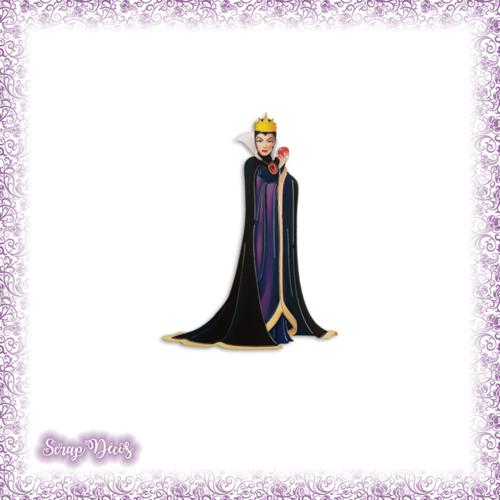 Découpe scrapbooking reine sorcière blanche-neige pomme halloween dessin animé en couleurs embellissement die papier scrap (ref.2568)