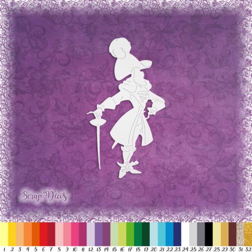 Découpe scrapbooking capitaine crochet peter pan halloween dessin animé - ref.2561