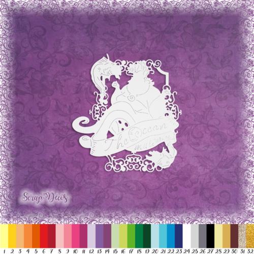 Découpe scrapbooking ursula sorcière des mers ariel petite sirène halloween dessin animé embellissement die cut papier scrap (ref.2560)