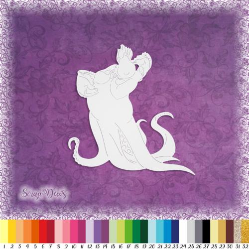 Découpe scrapbooking ursula sorcière des mers ariel petite sirène halloween dessin animé embellissement die cut papier scrap (ref.2569)
