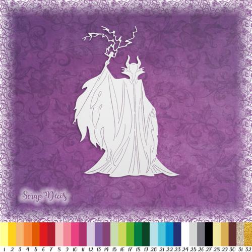 Découpe scrapbooking maléfique belle bois dormant aurore sorcière sort halloween dessin animé embellissement papier scrap (ref.2565)