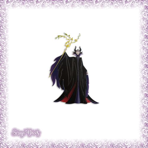 Découpe scrapbooking maléfique belle bois dormant aurore sorcière halloween dessin animé en couleurs - ref.2565