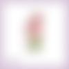 Découpe scrapbooking souris tulipes fleurs enfant naissance nature animal en couleurs embellissement die découpe papier scrap (ref.3032)